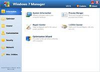 Windows 7 Manager screenshot