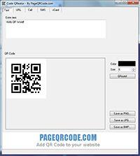 Code QReator screenshot