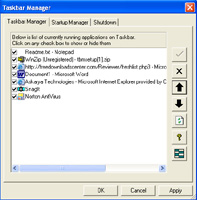Taskbar Manager screenshot