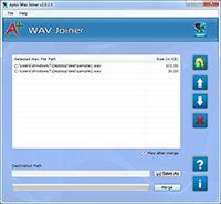 Apex WAV Merger screenshot