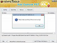 SysInfoTools Add Outlook PST screenshot