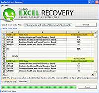 Recovering XLS Files screenshot
