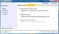 Delete Skype History screenshot