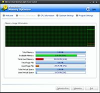 WinUtilities Free Memory Optimizer screenshot
