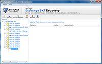 Exchange backup recovery utility screenshot