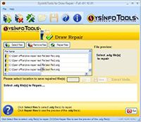 SysInfoTools Draw Repair screenshot