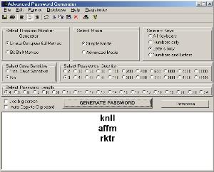 Advanced Password Generator  screenshot