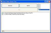 Empty Folder Cleaner ActiveX screenshot