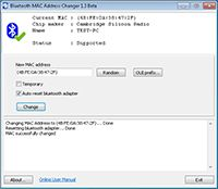 Bluetooth MAC Address Changer  screenshot