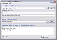 Blogspreading screenshot