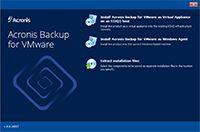 Acronis Backup for VMware screenshot