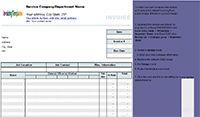 Timesheet Invoice Template screenshot