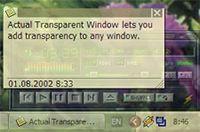 Actual Transparent Window screenshot