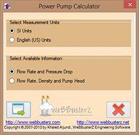 Pumping Power Calculator screenshot