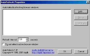 AutoRefresh screenshot