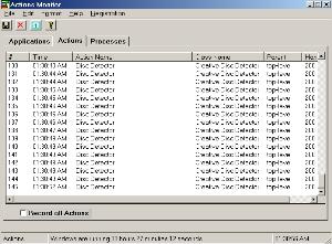 Actions Monitor  screenshot