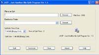 JASP - Just Another File Split Program screenshot