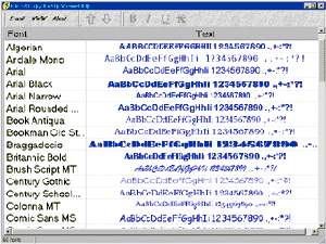 Free&Easy Fonts Viewer screenshot