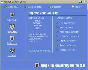 RegRun Security Suite  screenshot