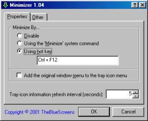 Minimizer screenshot