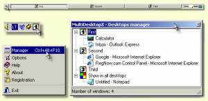 MultiDesktopX screenshot
