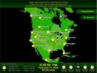Weather Report Screensaver screenshot