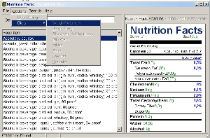 Nutrition Facts screenshot