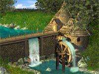 Watermill by Waterfall Screensaver screenshot