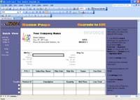 Excel Invoice Template screenshot