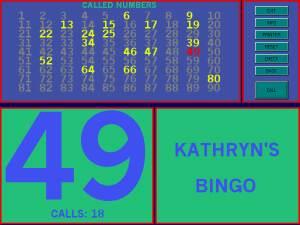 Kathryn's Bingo  screenshot