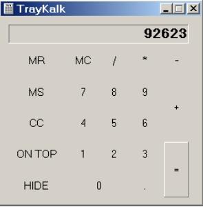 TrayKalk screenshot