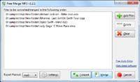 Free Merge MP3 screenshot
