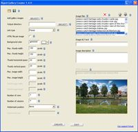 Rapid Gallery Creator Free screenshot