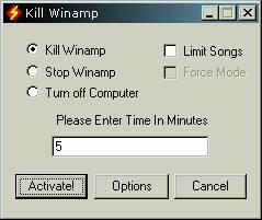 Kill Winamp screenshot
