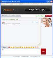 Support Web Chat screenshot