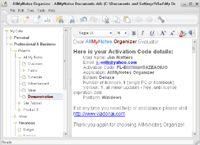 AllMyNotes Organizer FREE Edition screenshot