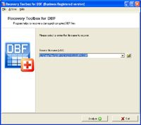 Recovery Toolbox for DBF screenshot