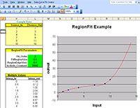 Data Curve Fit Creator Add-in screenshot