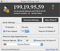 IPinator VPN screenshot