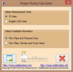 Pumping Power Calculator