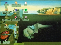 Salvador Dali desktop theme