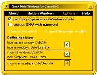 Quick Hide Windows