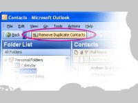 Delete Outlook Duplicate Contacts