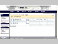 TimeLive timesheet  software
